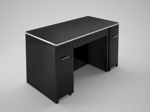 Eleganter Design Schreibtisch mit einer einzigartigen Schubladenfront. Luxus-Bueromoebel - beideseitig nutzbar. Individualisierungen Verfügbar.