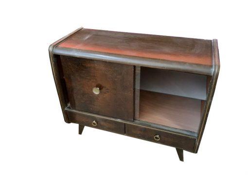 sideboard, unrestauriert, braun, toller Fuß, furnier, antik, wohnzimmer, elegant, muster, luxus, groß, stabil, muster, messing