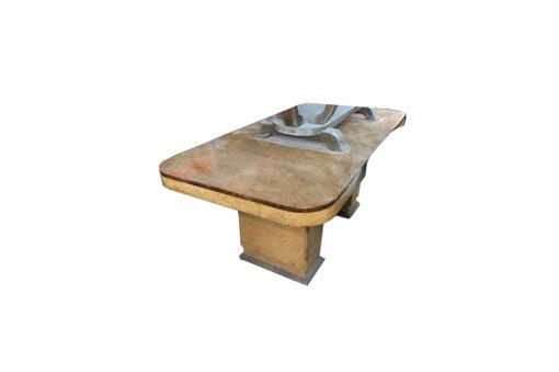 tisch, unrestauriert, braun, toller Fuß, furnier, antik, wohnzimmer, elegant, muster, luxus, groß, stabil, muster, esstisch