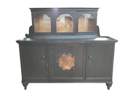 sideboard, unrestauriert, braun, toller Fuß, furnier, antik, wohnzimmer, elegant, muster, luxus, groß, stabil, muster, aufsatz