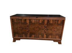 sideboard, unrestauriert, braun, toller Fuß, furnier, antik, wohnzimmer, elegant, muster, luxus, groß, stabil, muster, wurzelholz