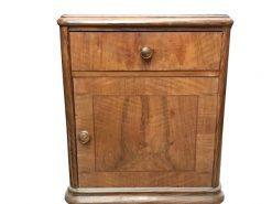 schrank, unrestauriert, braun, toller Fuß, furnier, antik, wohnzimmer, elegant, muster, luxus, groß, stabil, muster, nachtschrank
