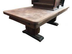 esstisch, unrestauriert, braun, toller Fuß, furnier, antik, wohnzimmer, elegant, muster, luxus, groß, stabil, muster, tisch