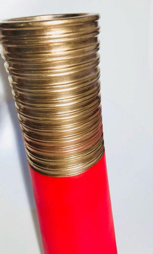 Rote Vase GallerieMoo'Blegok, Design, Raumaustattung, Dekoration, Luxus-Deko, Wohnzimmer, leuchtendes Rot, elegante Vasen