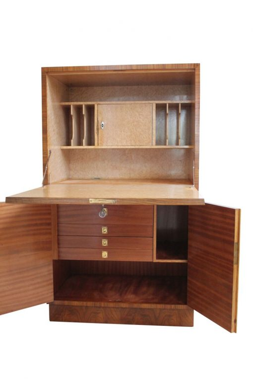 sekretär, restauriert, braun, großer Fuß, Furnier, antik, Wohnzimmer, elegant, Muster, Luxus, groß, stabil, Muster, holz,