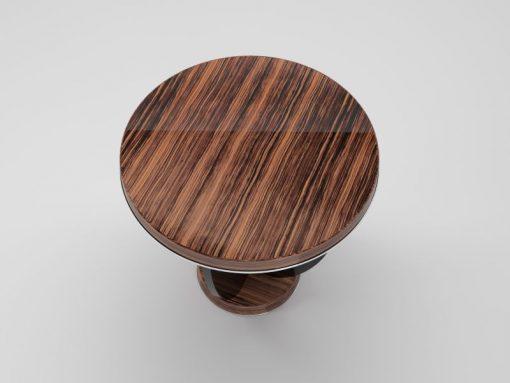 art, deco, beistelltisch, tisch, schubladen, schubladen, design, makassar, holz, möbel, chrom, furnier, wohnzimmer, individualisierbar