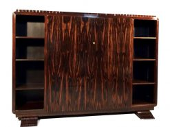 Schrank, Makassar, Holz, art, deco, 1920, frankreich, vintage, restauriert, mahagoni, ebenholz, furnier, braun, neu, alt,
