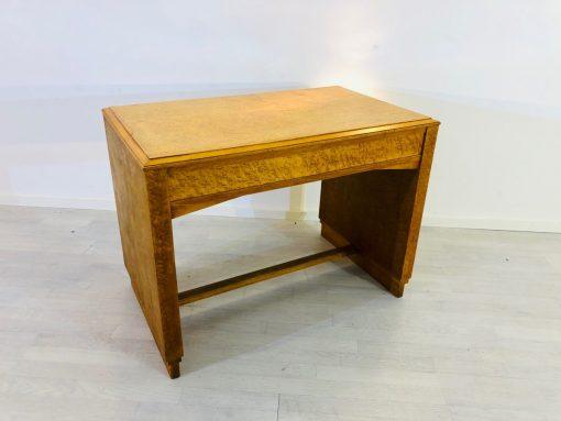 1930er Art Deco Schreibtisch aus Vogelaugenahorn, Ahorn, Original, Tisch, Antiquitaet, Design, Vintage, Antik, Moebel, Luxus