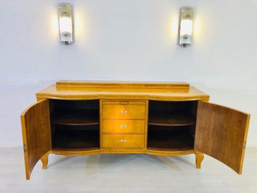 Original Art Deco Sideboard, Helles Walnussholz, Antik, 1920er, Design, Furnier, Aufbewahrung, Moebel, Luxus, toller Farbton