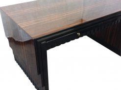 Original Art Deco Schreibtisch, Makassarholz, Design, Buero-Moebel, Design-Moebel, Luxus, Wohnzimmer, Schreibmoebel, Antik, 1920er, Frankreich