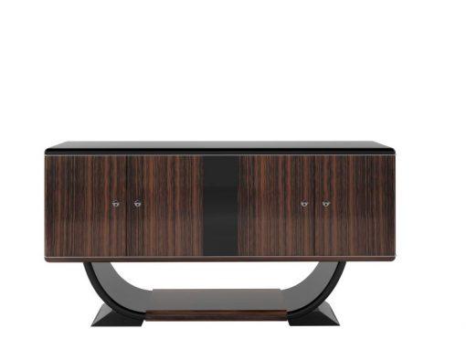 makassar, sideboard, klein, art, deco, schwarz, braun, alt, neu, restauriert, antik, design, style, wohnzimmer, kleines, möbel