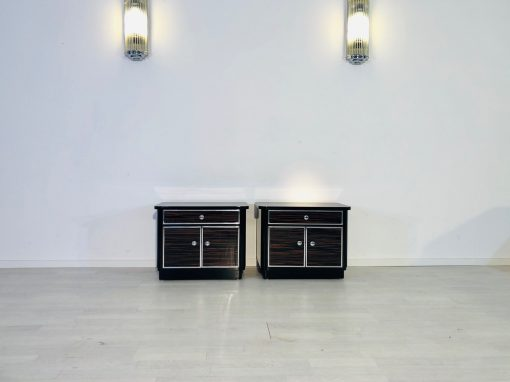 1920er Pärchen Makassar Nachtschränkchen aus Frankreich, Original-Möbel, Design, Luxus, Art Deco Möbel, Schlafzimmer Set, Makassar