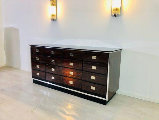 1920er Art Deco Apotheker Sideboard mit Makassar Schubladen, Luxus Moebel, Design Moebel, Apotheker Schrank, Innendesign, Schublden Schrank