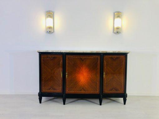 Louis Seize Sideboard oder Kommode aus dem 18. Jahrhundert, Antiquitäten, Rarität, Originalmöbel. Marmorplatte, Achtzehntes Jahrhundert