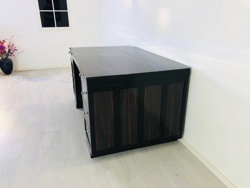 Art Deco Makassar-Holz Schreibtisch mit Hochglanz Finish, Schreibmöbel, Büromöbel, Luxusmöbel, Antiquitäten, Art Deco Möbel, Design , Innendesign, Luxus