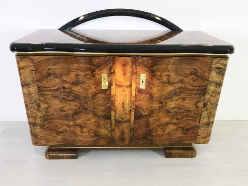 Art Deco Kommode Kaukasisches Nussbaumholz, Art Deco Sideboard, Möbel, Aufbewahrung, Luxusmöbel, Designmöbel, Innendesign