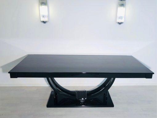 Adolf Loos Art Deco Esstisch in Hochglanz Schwarz, Art Deco Möbel, Design-Möbel, Art Deco Design, Innendesign, Luxus Möbel, Tische, Esszimmer