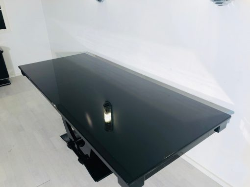 Art Deco Gondel-Esstisch Hochglanz aus Frankreich, Wohnzimmer-Möbel, Design Möbel, Luxus Esstisch, Gondeltisch, Art Deco Möbel