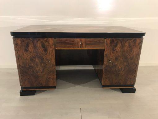 Art Deco Wurzelholz Jacquemin Schreibtisch aus Frakreich 1920er Jahre, Original Art Deco, Art Deco Möbel, Jacquemin Möbel