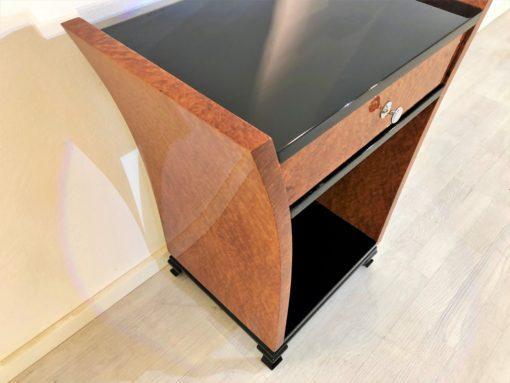Art Deco Tulpen Konsole aus Amboina-Holz, Konsolen-Tische, Design-Möbel, Luxus Möbel, Amboina-Holz, Beistelltische, Art Deco Möbel
