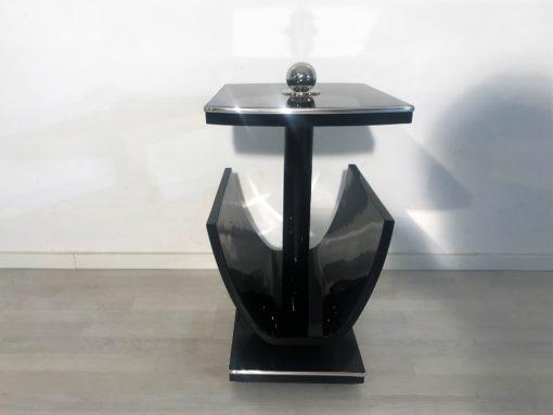 Schwarzer Art Deco Rauchertsich oder Lesetisch hochglanz, Piano Lack, Schellack, Art Deco Möbel, Art Deco Stil, Original art Deco