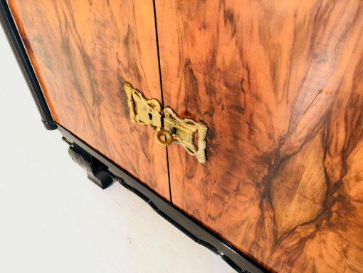 Luxuriöse Art Deco Vitrine Frankreich 1920er, Art Deco Moebel, Antiquitaeten, Schraenke, Art Deco Schraenke, Design, Wohnzimmer Moebel