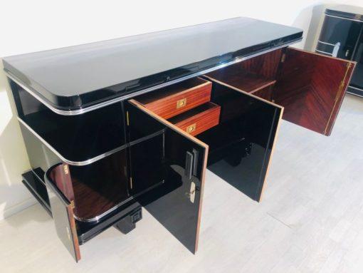 art, deco, möbel, schwarz, sideboard, 1920, alt, antik, original, wohnzimmer, elegant, modern, design, restauriert, super
