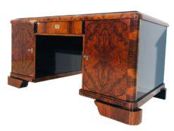 art, deco, schreibtisch, wurzelholz, holz, alt, antik, modern, original, wohnzimmer, büro, tisch, frankreich, edel, elegant