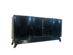 Klassisches 1920er Art Deco Sideboard mit Serpentinen-Türen, Originalmöbel, Art Deco Möbel, Luxus Möbel, Design Möbel, Sideboards, Schränke, Kommoden