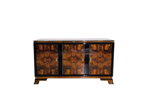 Walnuss Sideboard aus der Art Deco Ära, Art Deco Moebel Haendler, Art Deco Moebel Verkauf, Luxus Moebel, Art Deco Sideboards, Design moebel