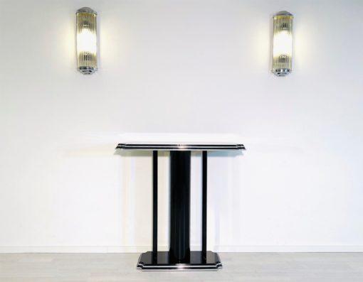 Hochglanz Schwarzer Art Deco Stil Konsolentisch