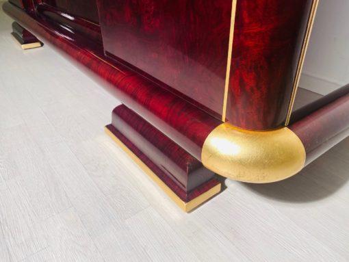 Art Deco Sideboard Kaukasisches Nussbaumholz und Blattgold, Art Deco Möbel, Design, Luxus-Mobel, Antiquitäten, Blattgold Möbel, Buffet