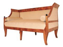Antikes Biedermeier Sofa aus dem 19. Jahrhundert Zweisitzer, Antike Möbel, Restauration, Beidermeier Möbel, Walnussholz, Antiuitäten, Sitzmöbel