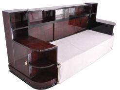 Französisches Art Deco Daybed Sofa aus Palisanderholz, Original Art Deco Daybed, 1920er Jahre Moebel, Design Moebel, Luxus Antiquitaeten
