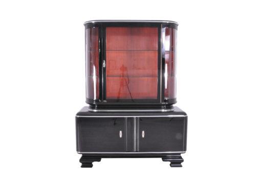 Klassische Klavierlack Art Deco Vitrine, Antiquitaeten, Klassiches Design, Restauration, Schraenke, Art Deco Moebel, Luxus-Moebel