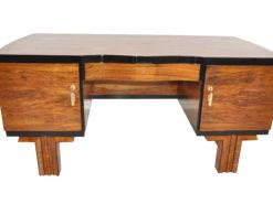 1920er Art Deco Nussbaum Schreibtisch, Art Deco Möbel, Art Deco Antiquitäten, design möbel, Restauration, Nussbaum Schreibtische, Luxus