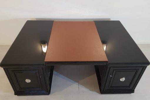 XXL Art Deco Partnerschreibtisch Klavierlack, Art Deco Schreibtisch, Luxus Büromöbel, Design, Innendesign, Partnermoebel, CEO Schreibtisch, XXL Schreibtisch