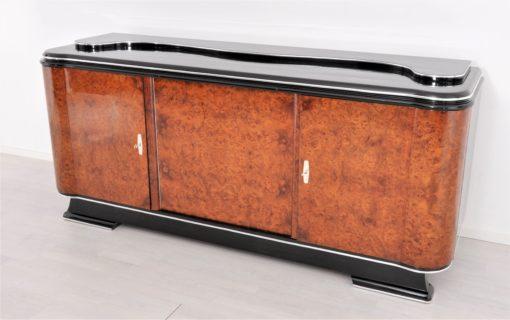 1920er Art Deco Amboina Sideboard oder Buffet, Art Deco Möbel, Sideboard, Antiquitäten, Buffet, 1920er Jahre, Design Möbel, Luxus Möbel