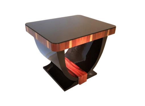 Art Deco Stil Gondel Beistelltisch, Art Deco Stil Moebel, Design Moebel, Hochglanz Beistelltisch, Luxusmoebel, Wohnzimmermoebel, Klavierlack